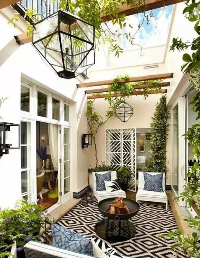 庭院装修效果图|下沉式庭院如何装修才好看?