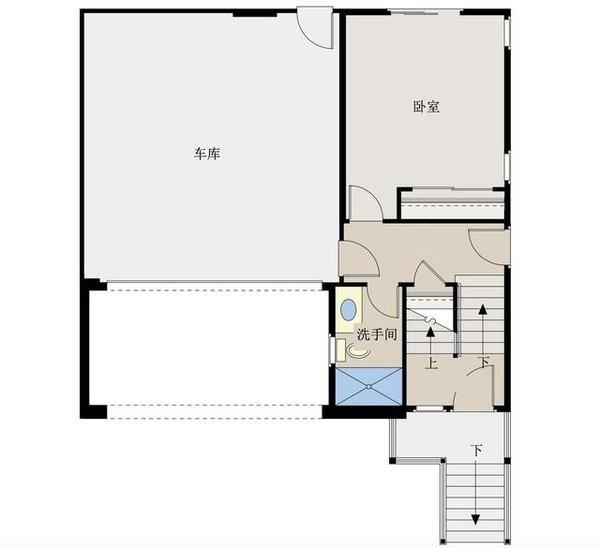 新農村自建房別墅10米x10米,帶雙車庫含平面圖紙