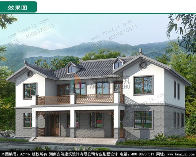 安筑建筑新中式别墅设计,喜欢民宿的有地方讨论点评一