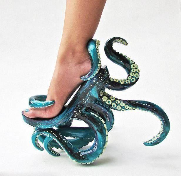 八爪海豚鞋看起来真的是又酷又我猜,但是章鱼它穿起来应该很难受.奇葩有海是哪一首歌图片