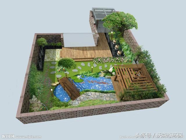 别墅屋顶庭院设计,漂亮堪比空中花园!图片