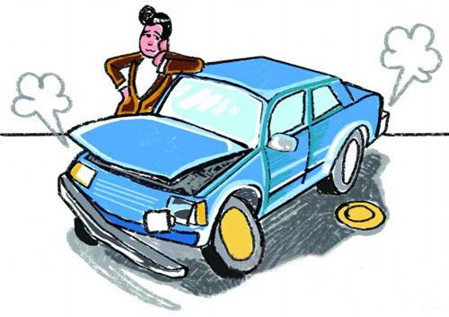 由点火系统故障而引起的中途抛锚,停车按喇叭,如不响即为低压电路断路