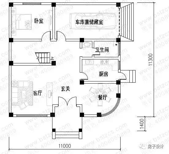 三层框架结构简欧小别墅,外观独特,造型优美,一好哪里装修别墅内v框架图片