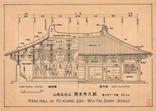 这些精美的中国古代建筑图,是70多年前梁思成与其助手莫宗江手绘的