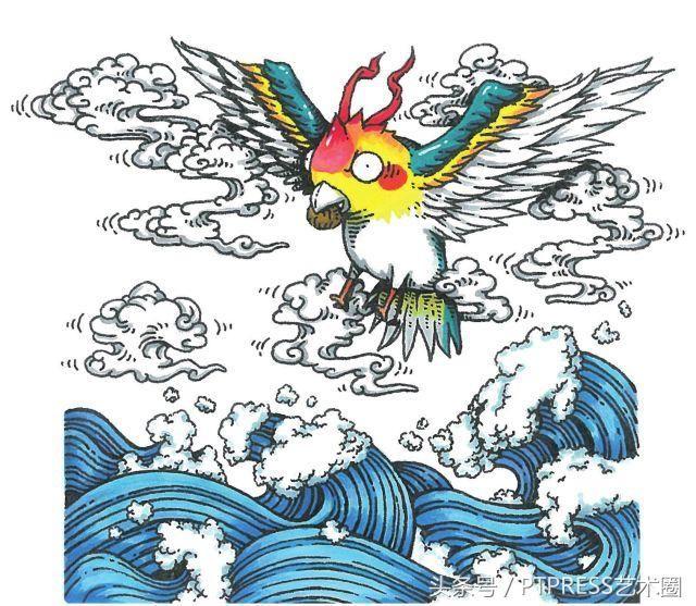 青丘国九尾狐 精卫精卫在我们的印象中,是一只特别励志的小鸟,它小小