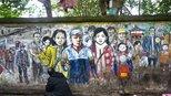 老画家6年创作 墙绘百米武汉版
