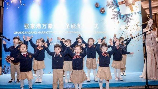 张家港万豪酒店圣诞亮灯仪式 开启缤纷圣诞季