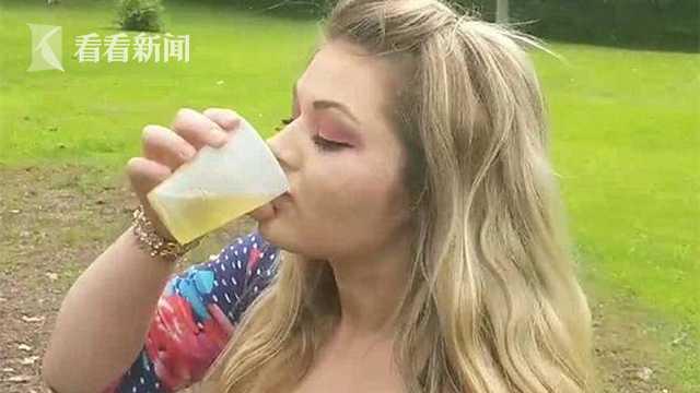 震惊!女子自拍喝宠物狗尿 声称能治粉刺癌症