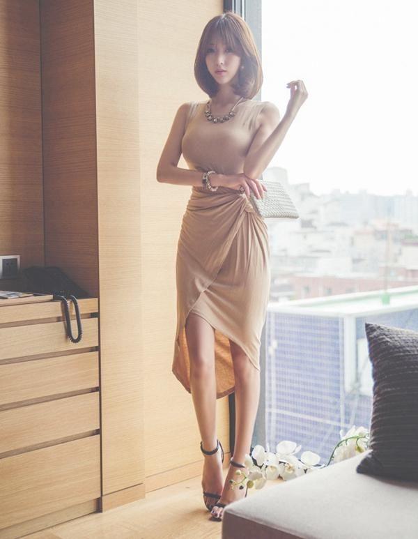 得体的裸色裙,凸显性感身姿,秒变女神范 时尚潮流 第5张