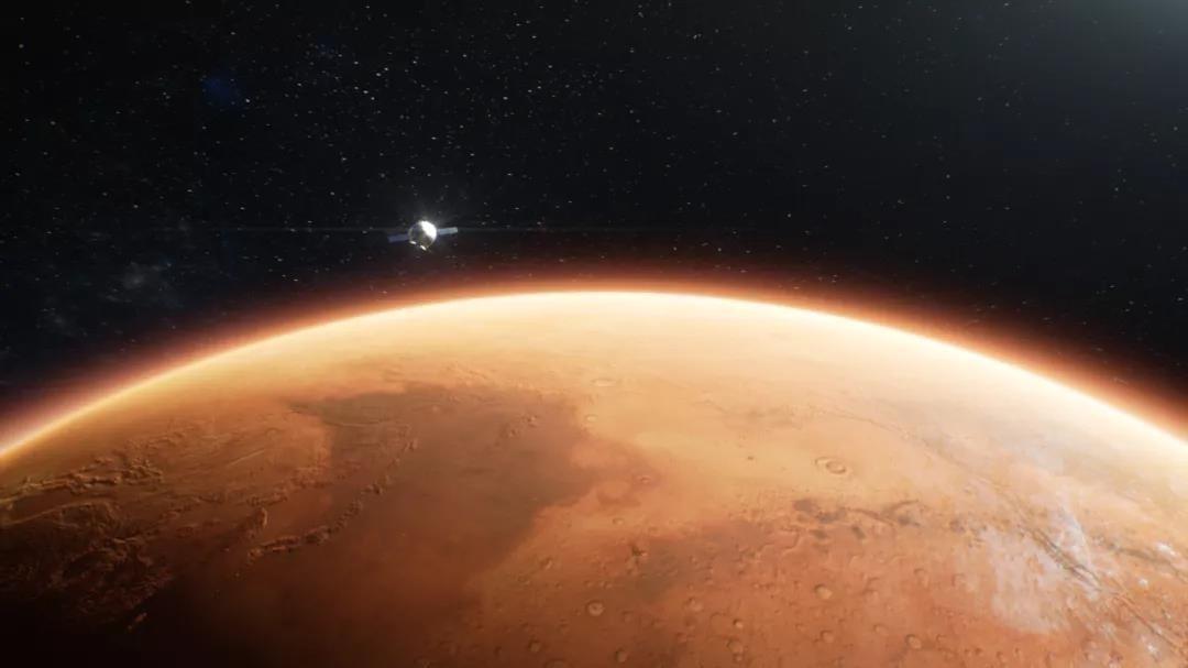 天问一号成功实施第三次近火制动 进入火星停泊轨道