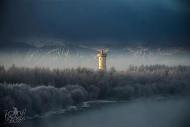 青海贵德黄河岸边惊现雾凇奇观