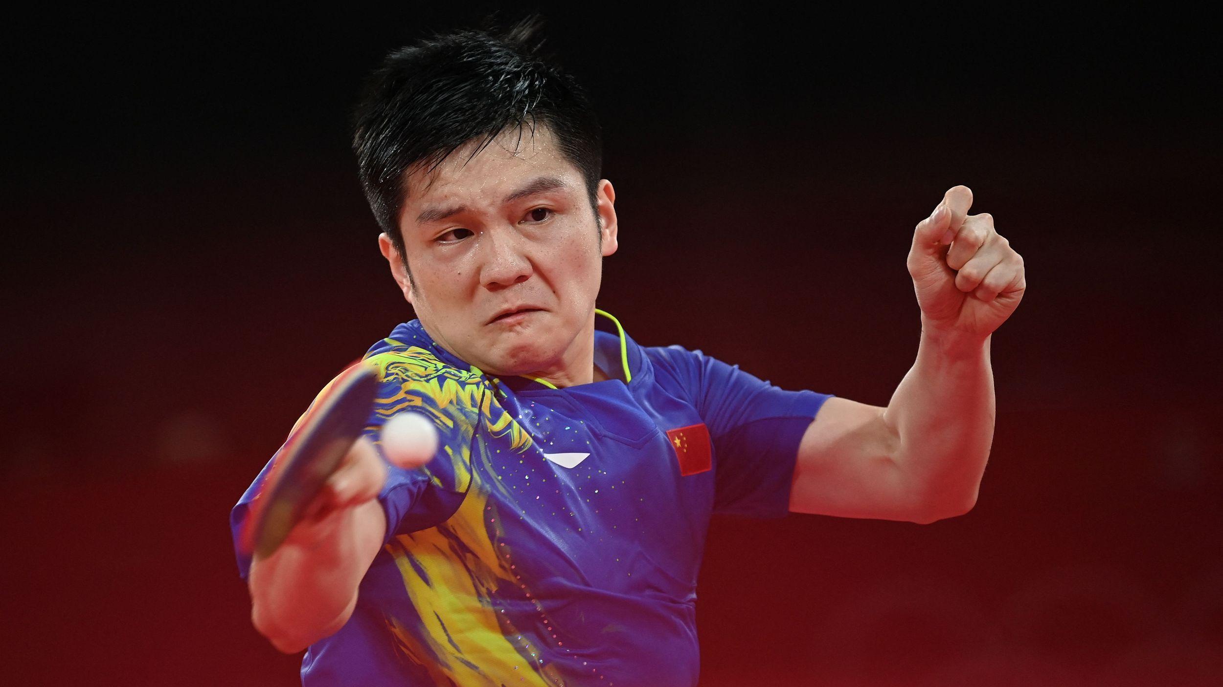 乒乓球男单1/4决赛,樊振东4-0横扫郑荣植晋级四强