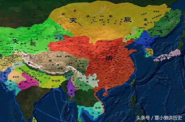 9张图概括中国各朝代版图变迁历史:汉唐盛世气