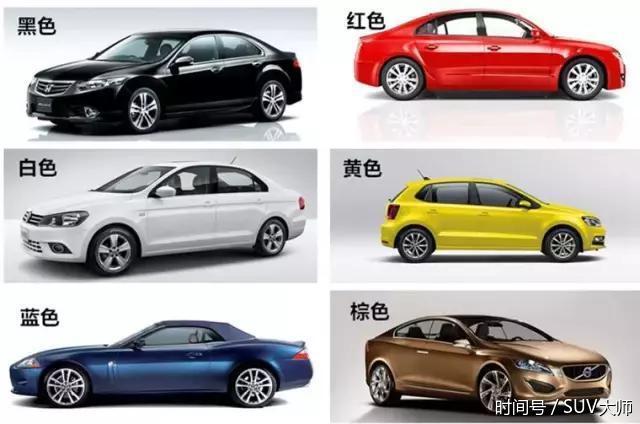从汽车颜色看性格,没想到选