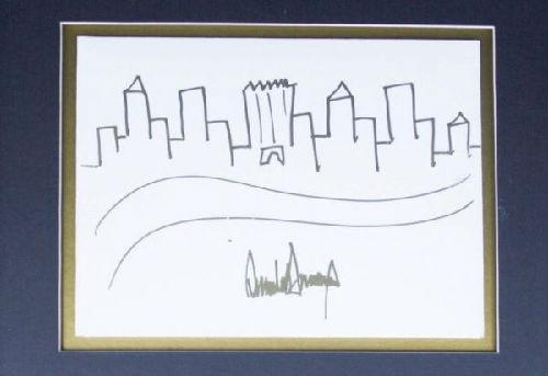 特朗普纽约轮廓涂鸦作品将拍卖 起拍价9000美元