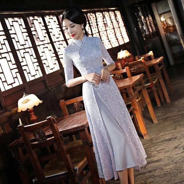 旗袍最浅是灰色,不属暖也不属冷! 时尚潮流 第4张